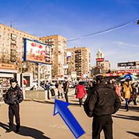 Выйдя из метро, вы увидите подземный переход слева, переходите по нему Большую Семёновскую улицу.