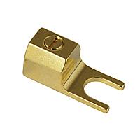 """Разъем акустический типа """"лопатка"""" Analysis-Plus T1 Spade Gold"""