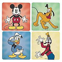 Подставки под стаканы Disney - Mickey, Donald, Pluto & Goofy (4 шт.)