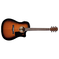 Гитара электроакустическая Fender CD-60CE Dreadnought Braun Sunburst W/Fishman Miniq Preamp