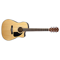 Гитара электроакустическая Fender CD-60CE Dreadnought Natural W/Fishman Miniq Preamp