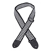 Ремень для гитары Fender Nylon Strap Checker Board Black/White
