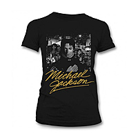Футболка женская Michael Jackson - Black And White Cover Gold