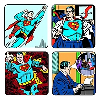 Подставки под стаканы Superman (4 шт.)