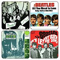 Подставки под стаканы The Beatles - Singles Vol.2 (4 шт.)