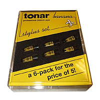 Игла для звукоснимателя Tonar Stylus Banana 6 Pack