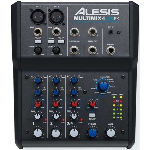 Аналоговый микшерный пульт Alesis MultiMix 4 USB FX alesis dm lite kit