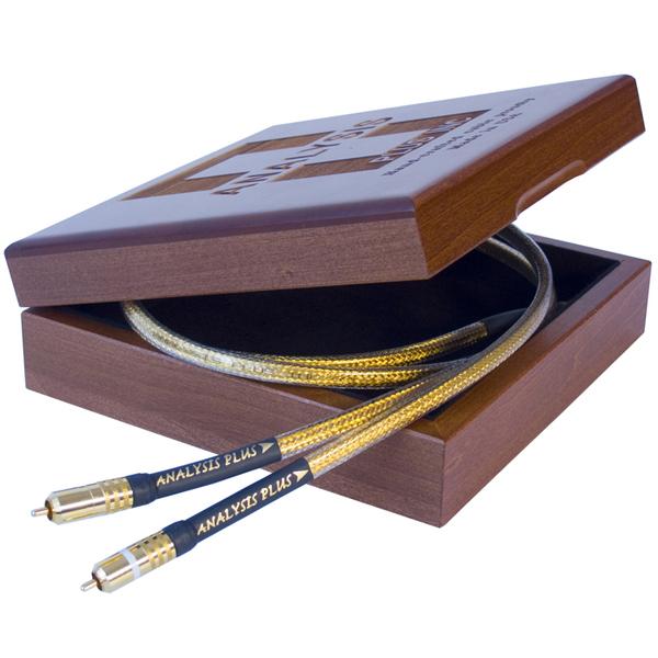Кабель межблочный аналоговый RCA Analysis-Plus Golden Oval 1 m кабель usb analysis plus purple plus usb 1 m