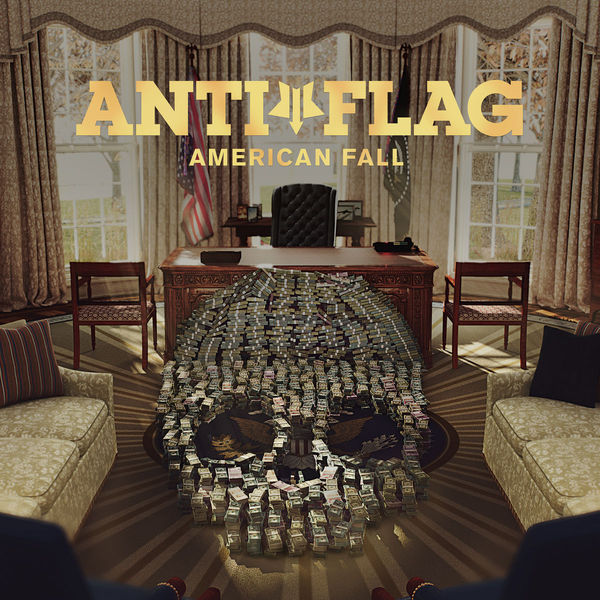 Anti-flag Anti-flag - American Fall (colour) kangaroo pocket drawstring american flag hoodie