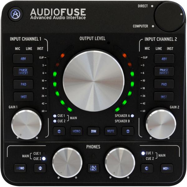 Внешняя студийная звуковая карта Arturia Audiofuse Dark Black lileng 821 usb powered 3 blade 2 mode fan black 4 x aa