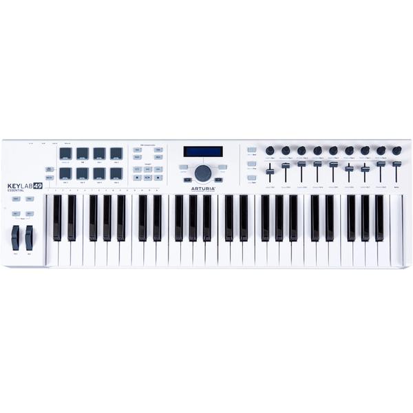 MIDI-клавиатура Arturia KeyLab Essential 49 White midi клавиатура alesis v49