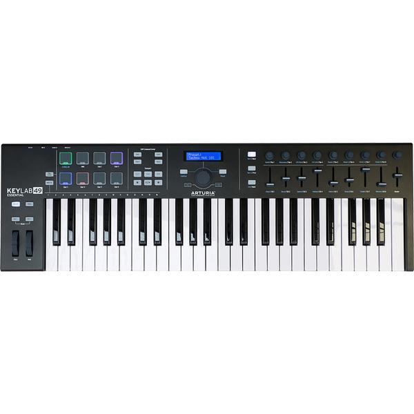 MIDI-клавиатура Arturia KeyLab Essential 49 Black Edition midi клавиатура alesis v49