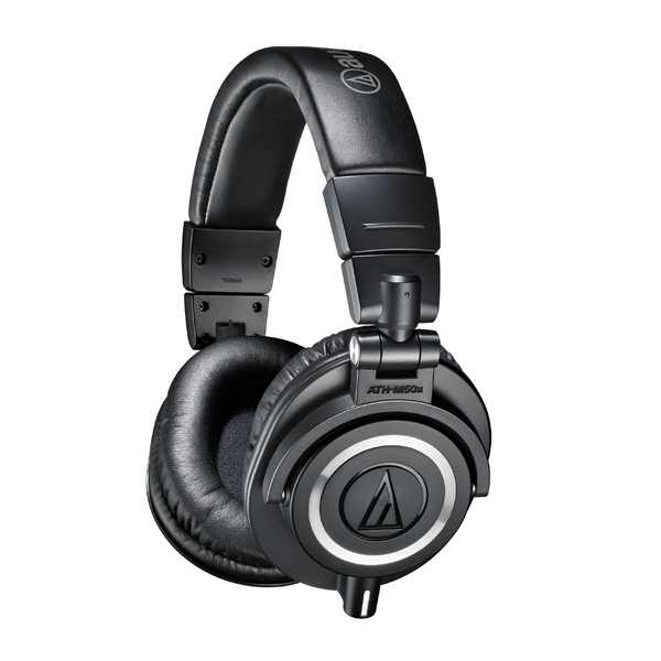Охватывающие наушники Audio-Technica ATH-M50x Black наушники audio technica ath anc50is дуговые закрытого типа