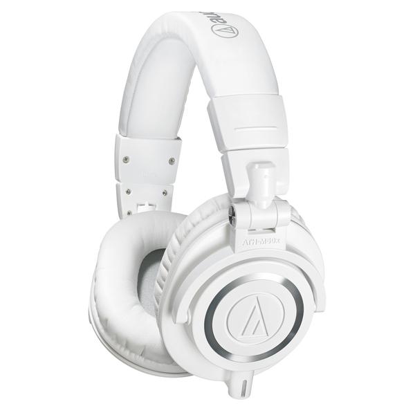 Охватывающие наушники Audio-Technica ATH-M50x White наушники audio technica ath anc50is дуговые закрытого типа