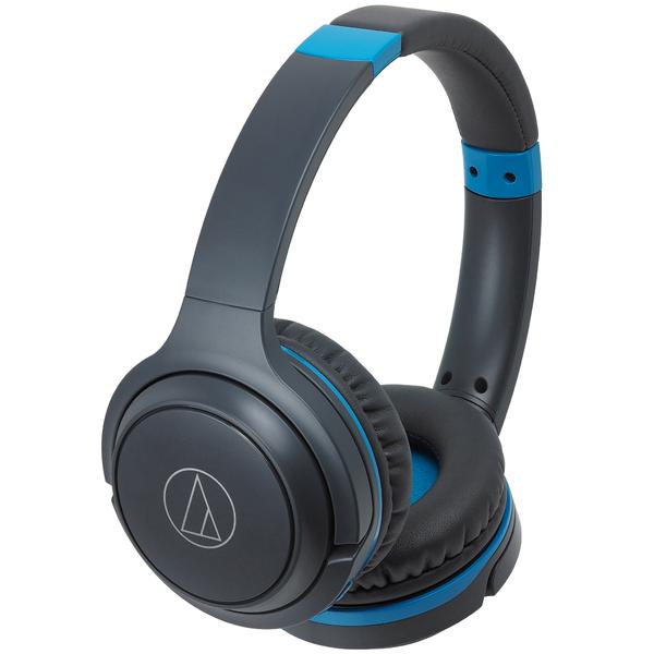 Беспроводные наушники Audio-Technica ATH-S200BT Gray/Blue цена и фото