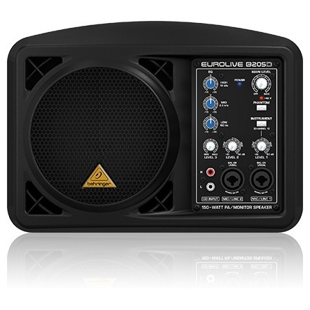 Профессиональная активная акустика Behringer B205D EUROLIVE Black профессиональная пассивная акустика behringer eurolive professional b1520 pro