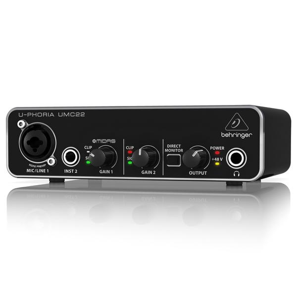 Внешняя студийная звуковая карта Behringer UMC22 U-PHORIA аудиоинтерфейс behringer u phoria um2