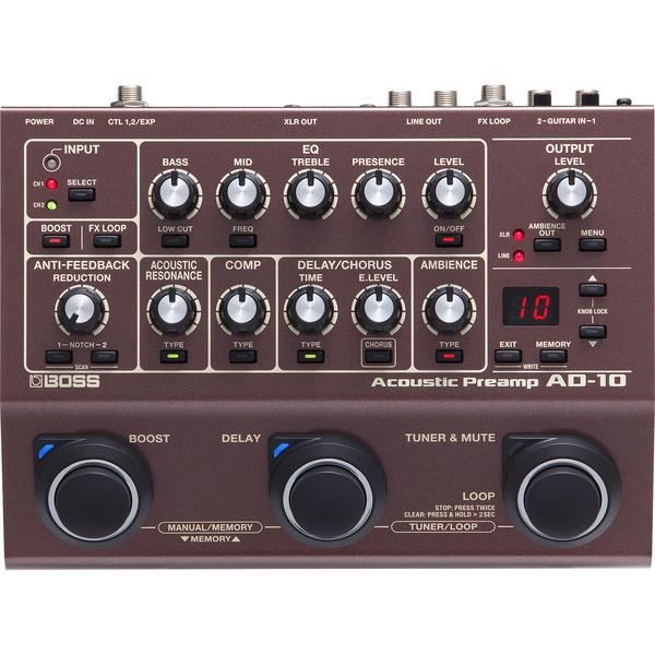 Гитарный процессор BOSS AD-10 вокальный процессор boss ve 500