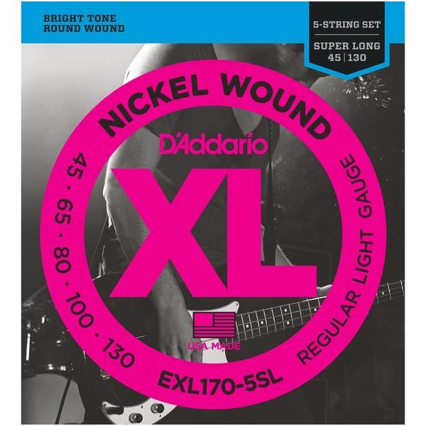 Гитарные струны D'Addario EXL170-5SL (для бас-гитары) цена и фото