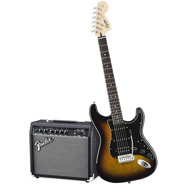 цена на Гитарный комплект Fender Affinity Series Stratocaster HSS Pack Brown Sunburst