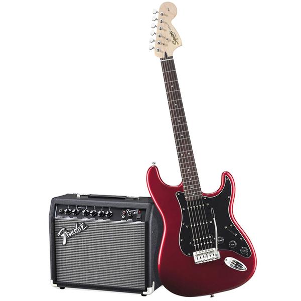купить Гитарный комплект Fender Affinity Series Stratocaster HSS Pack Candy Apple Red по цене 35000 рублей