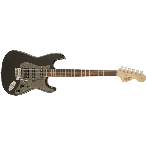 купить Электрогитара Fender Squier Affinity Stratocaster HSS LRL Montego Black Metallic по цене 23900 рублей