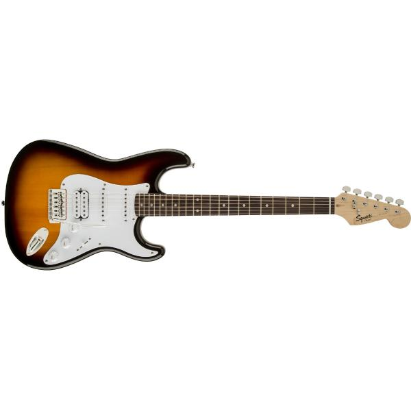 лучшая цена Электрогитара Fender Squier Bullet Tremolo HSS Brown Sunburst