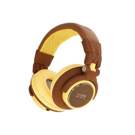 Охватывающие наушники Fischer Audio FA-005 Brown/Yellow наушники fischer audio fa 555 orange black