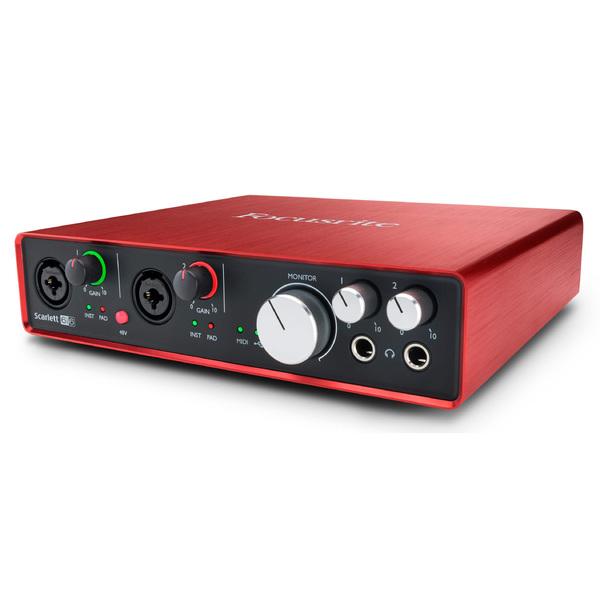Внешняя студийная звуковая карта Focusrite Scarlett 6i6 2nd Gen внешняя студийная звуковая карта focusrite red 4pre