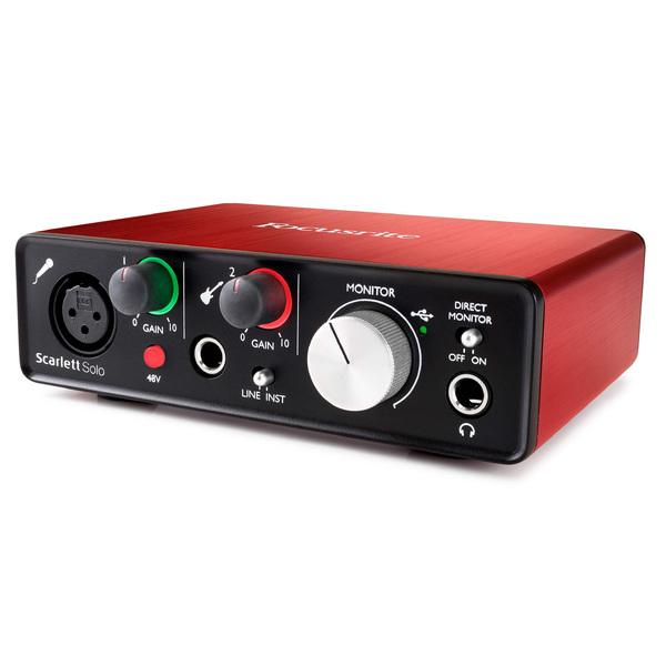 Внешняя студийная звуковая карта Focusrite Scarlett Solo 2nd Gen внешняя студийная звуковая карта focusrite red 4pre