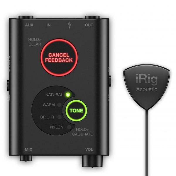 Мобильный аудиоинтерфейс IK Multimedia iRig Acoustic Stage мобильный аудиоинтерфейс ik multimedia irig pro i o