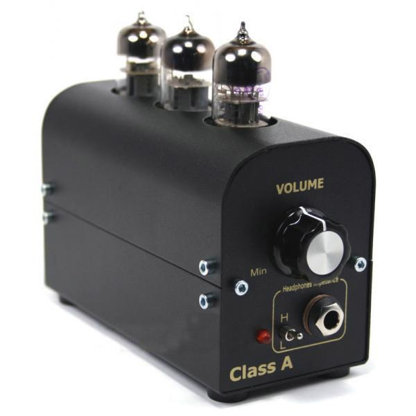 Ламповый усилитель мощности для наушников.  Отношение сигнал/шум 80 дБ, полоса пропускания 10...