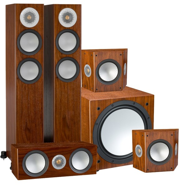 Комплект акустики 5.1 Monitor Audio Silver 200 AV12 Walnut lehmann audio linear se silver walnut