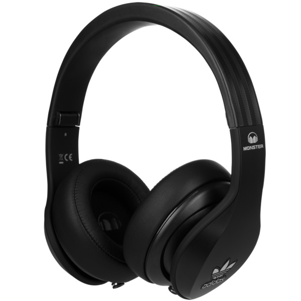 Охватывающие наушники Monster Adidas Originals Over Ear Headphones Black наушники monster isport achieve black 137092 00