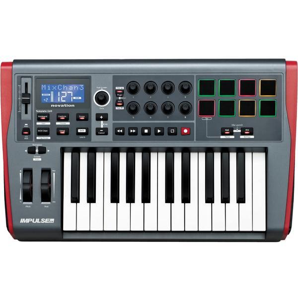 MIDI-клавиатура Novation Impulse 25 отражатель optima impulse с диодной импульсной подсветкой rgk