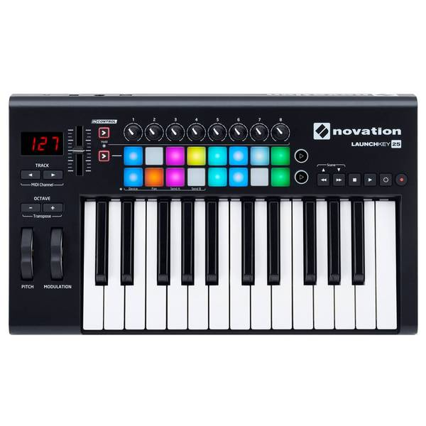 MIDI-клавиатура Novation Launchkey 25 MK2 midi контроллер novation launchpad pro