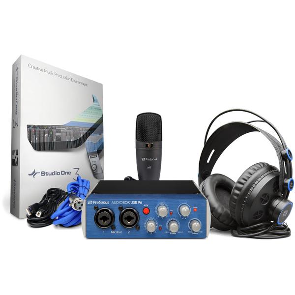 Внешняя студийная звуковая карта PreSonus AudioBox 96 STUDIO внешняя студийная звуковая карта presonus audiobox 1818vsl
