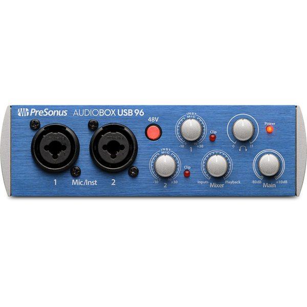 Внешняя студийная звуковая карта PreSonus AudioBox USB 96 внешняя студийная звуковая карта presonus audiobox 1818vsl