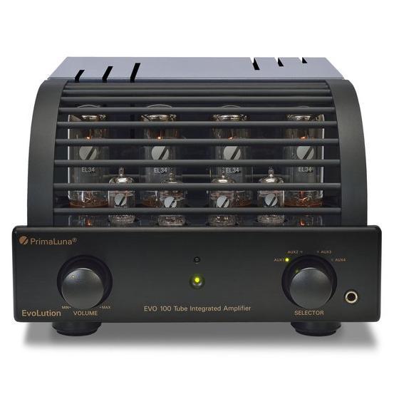 Ламповый стереоусилитель PrimaLuna Evolution 100 Int Black ламповый стереоусилитель cary audio design cad 300 sei black
