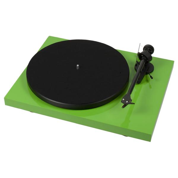 Виниловый проигрыватель Pro-Ject Debut Carbon DC Phono USB Green (OM-10) pro ject debut carbon dc phono usb red om 10