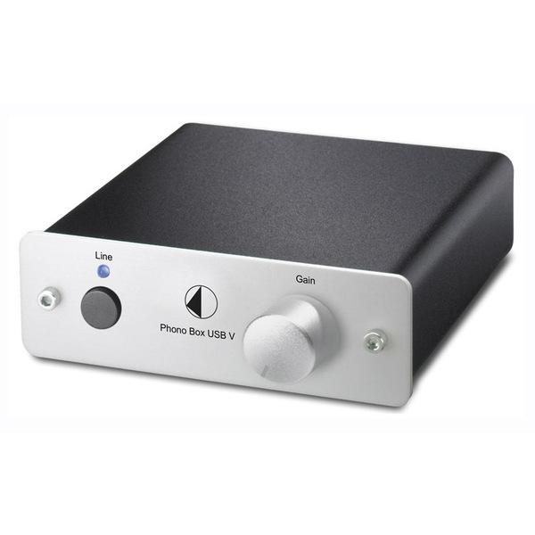 Фонокорректор Pro-Ject Phono Box USB V Silver блок питания octave black box preamp silver