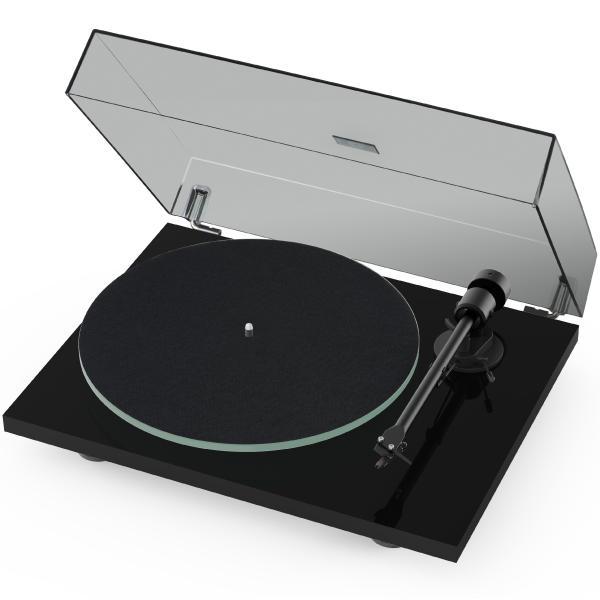 Виниловый проигрыватель Pro-Ject T1 Piano Black (OM-5e) виниловый проигрыватель pro ject juke box e white om 5e уценённый товар