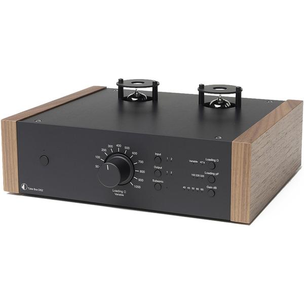 Ламповый фонокорректор Pro-Ject Tube Box DS2 Black/Walnut цена и фото