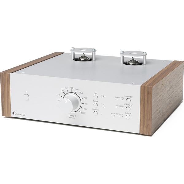 Ламповый фонокорректор Pro-Ject Tube Box DS2 Silver/Walnut цена и фото