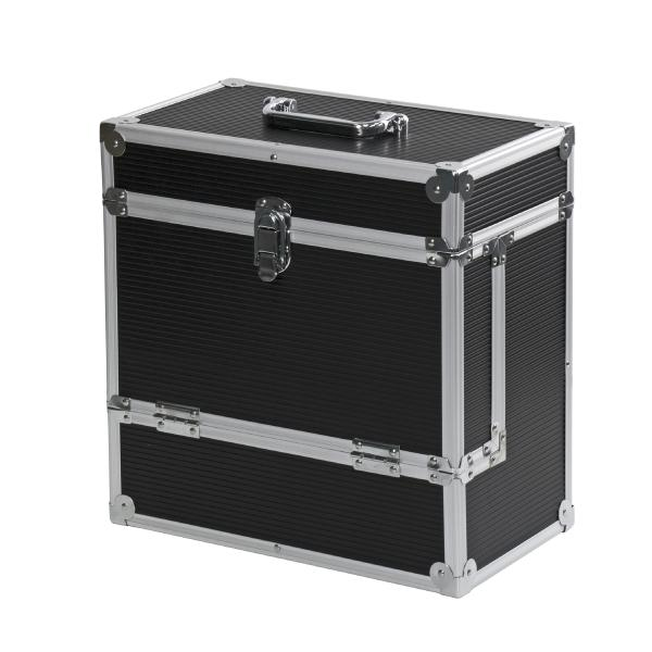 Подставка для виниловых пластинок Retro Musique Кейс для виниловых пластинок Aluminiul LP Vinyl Storage Case Black цена