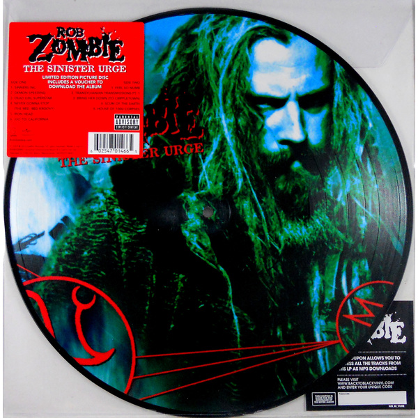лучшая цена Rob Zombie Rob Zombie - The Sinister Urge (picture)