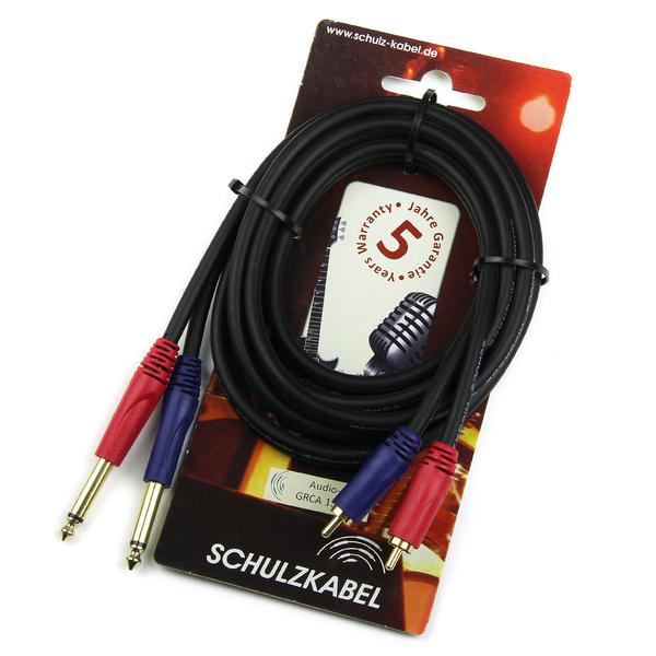Кабель межблочный 2Jack-2RCA Schulz GRCA 16 3 m кабель jack jack schulz кабель межблочный 2jack 2jack gwas 3 m