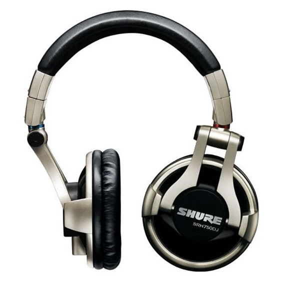 Охватывающие наушники Shure SRH750DJ Silver/Black цена и фото