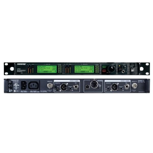 Приемник для радиосистемы Shure UR4D+ J5E 578 - 638 MHz shure ur5 r9 790 865 mhz