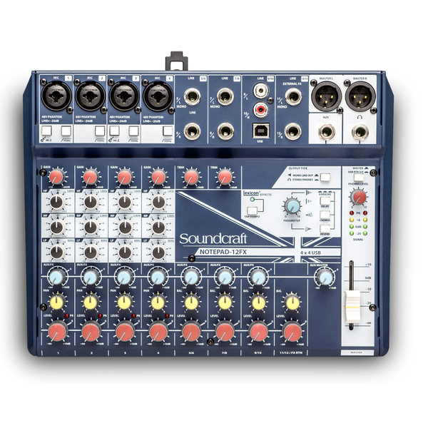 Аналоговый микшерный пульт Soundcraft Notepad-12FX аналоговый микшерный пульт soundcraft signature 12